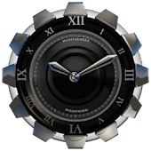 Clock Widget Black Panther