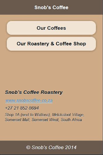 Snob's Coffee