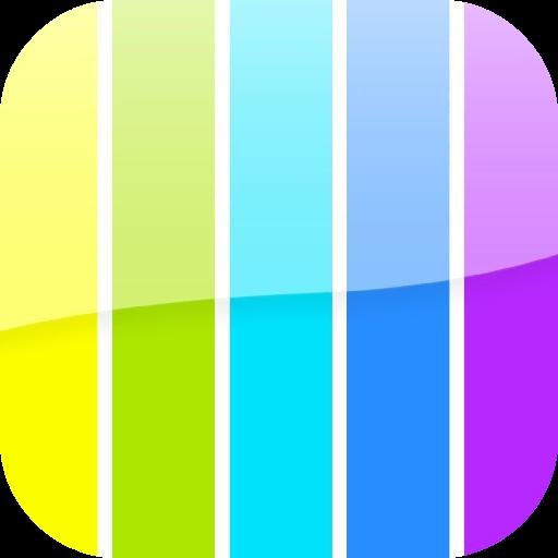 彩色條紋壁紙 LOGO-APP點子