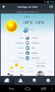 Weather in Chile 14 days - screenshot thumbnail