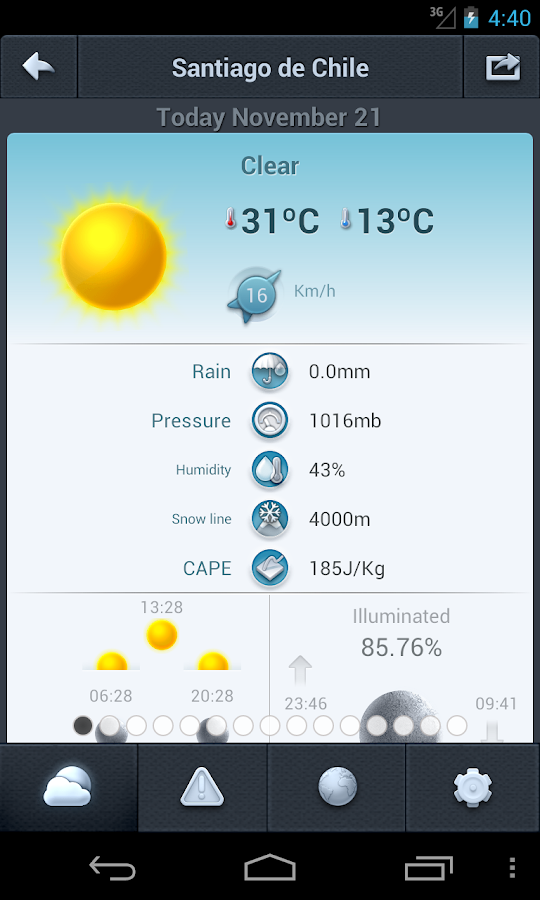 Weather in Chile 14 days - screenshot