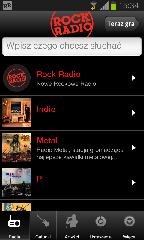 Rock Radio- screenshot