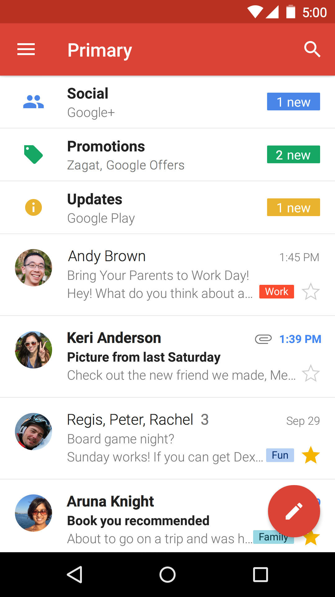 Gmail screenshot #1