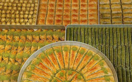 Turkish pastries in Istanbul, Turkey.