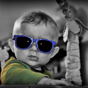 Christian by Michael Shaffer - Babies & Children Babies ( cool, shades, bland and white, selective color, sc, baby,  )