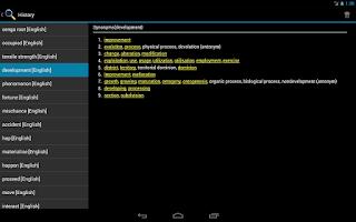 Screenshot of Online Thesaurus