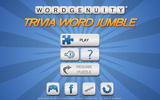 Wordgenuity Trivia Word Jumbl