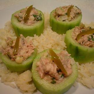 Tuna Boat Appetizers.