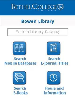 Bethel College Library - screenshot