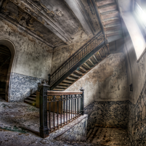 Stairway to Heavens Bells 3 of 4 by Dawn Robinson - Buildings & Architecture Decaying & Abandoned ( urban exploration, urbex, urban decay, urban landscapes, abandoned all hope, architecture, urban atrophy, architectural history, abandoned church, abandoned,  )