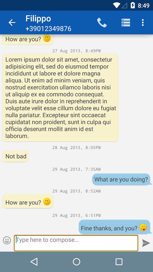 SmartSMS - screenshot
