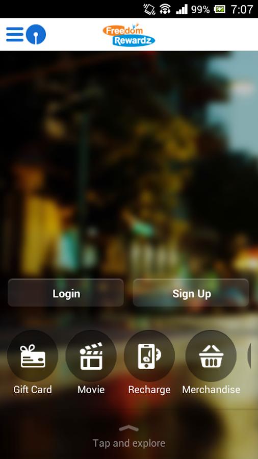 State Bank FreedomRewardz - screenshot