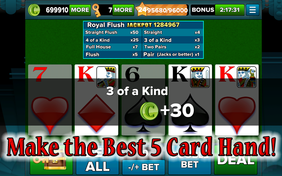Video poker en linea gratis