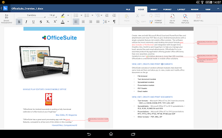 OfficeSuite 8 + PDF to Word Screenshot 1
