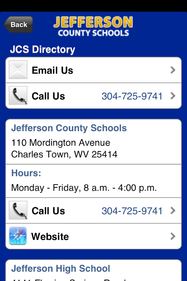 Jefferson County Schools- screenshot