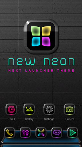 Next Launcher Theme New Neon