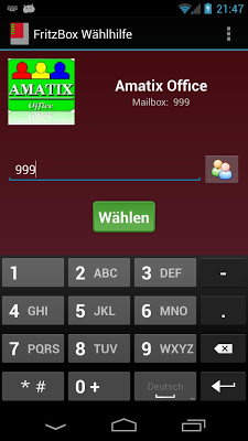 Box Wählhilfe - screenshot