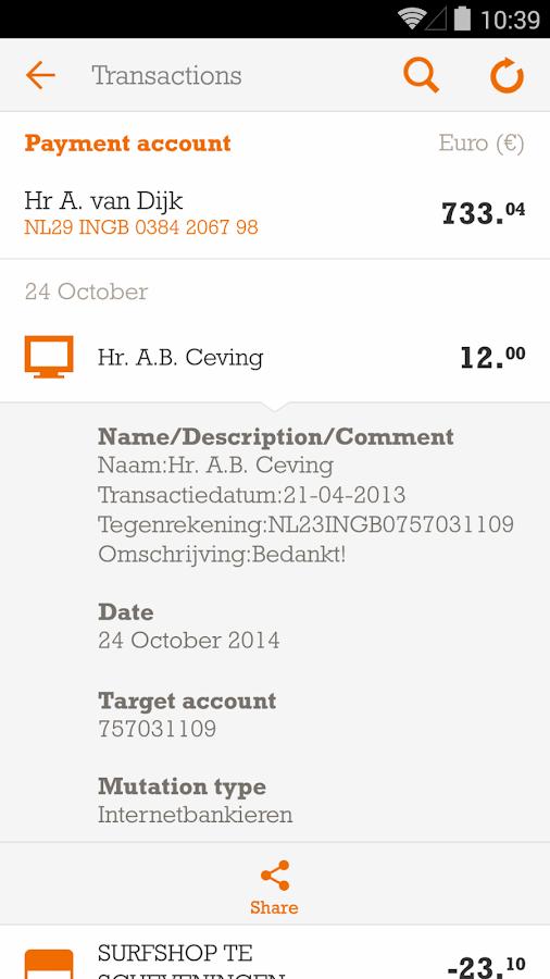 ING Bankieren- screenshot
