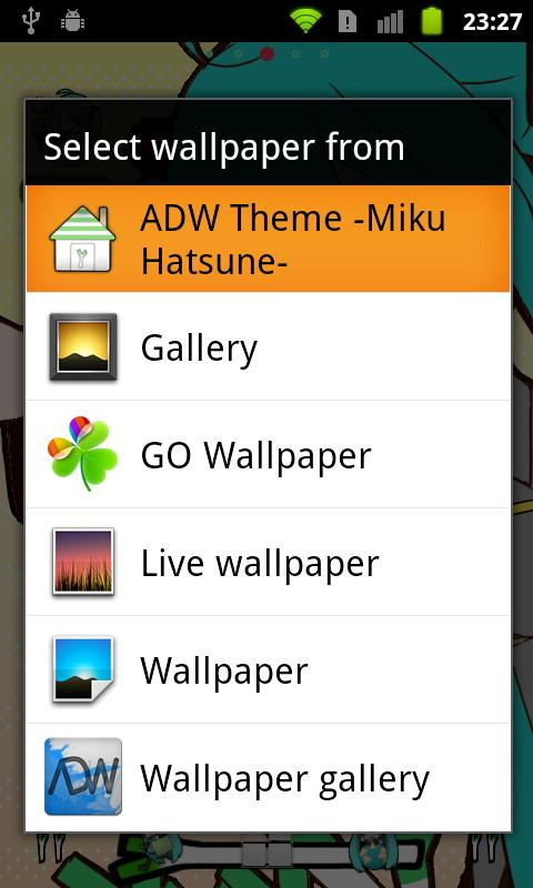 ADW Theme -Miku Hatsune- - screenshot