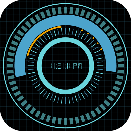 Animated Digital Clock Free Android APK Download Free By ALADDIN'S CAVE