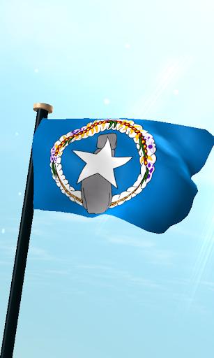 북 마리아나 제도 국기 3D 무료 라이브 배경화면