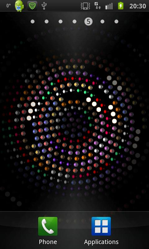 3D Light Grid Ball - screenshot