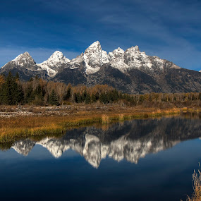 Reflections of Change by Ryan Smith - Landscapes Mountains & Hills ( tetons )