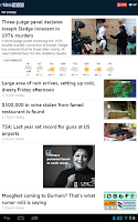 Screenshot of WRAL News App