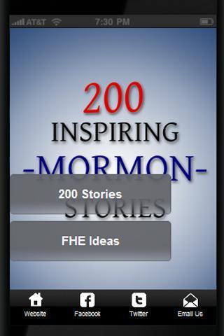 【免費書籍App】200 Mormon Stories-APP點子