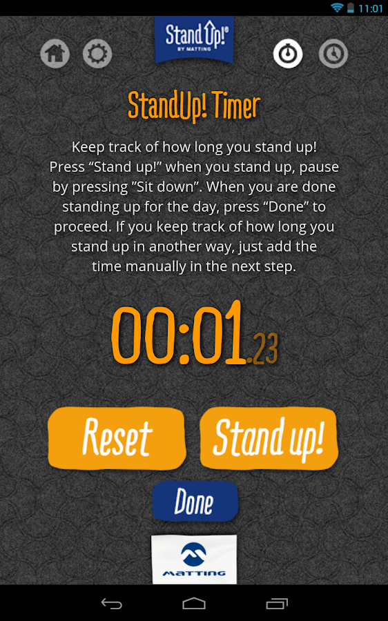StandUp!- screenshot