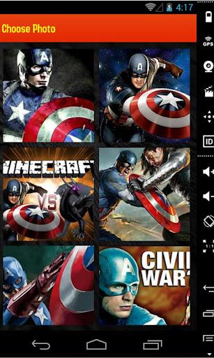 Captain America Cartoon Puzzle
