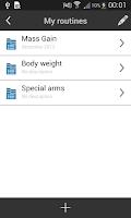 Screenshot of My Workout Diary