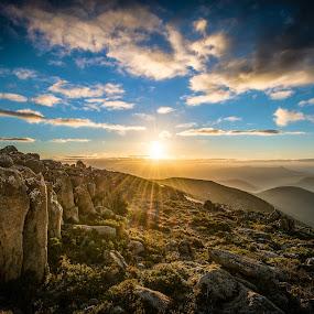 Sun Set  by Alan Wright - Landscapes Sunsets & Sunrises