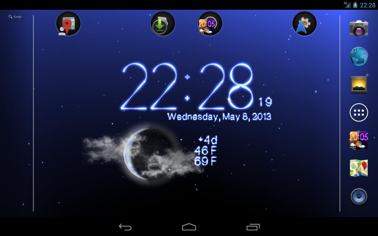 Wetter live wallpaper screenshot