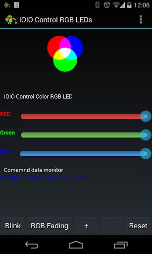 IOIO 藍 牙 控 制 的 RGB LED