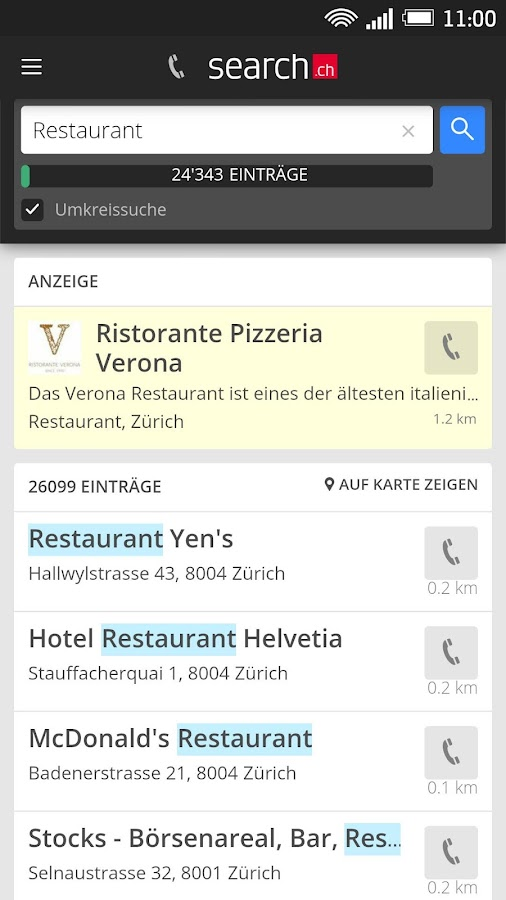 search.ch- screenshot