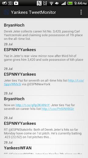 NY Yankees TweetMonitor
