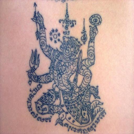 Sak Yant Tattoo Thai Style