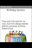 Screenshot of Birthday Quotes