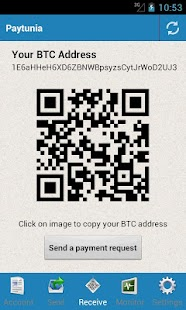 Paytunia Bitcoin Wallet - screenshot thumbnail
