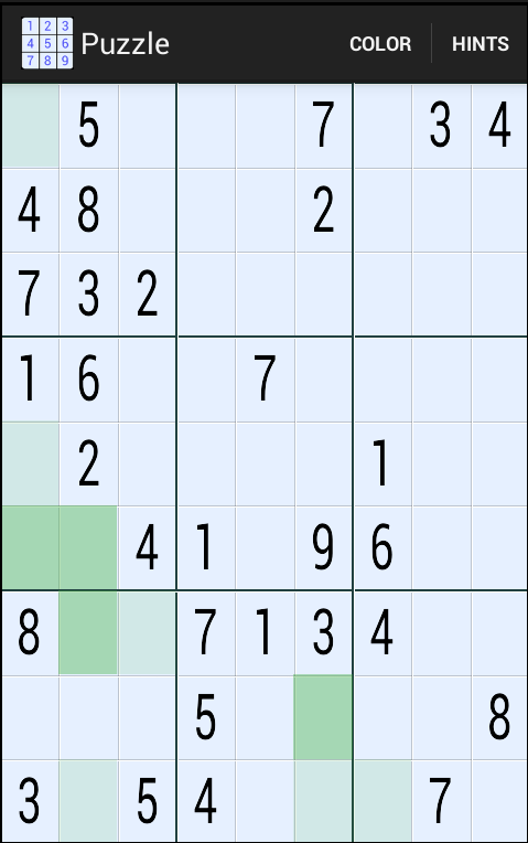 Sudoku Hint Plus- screenshot