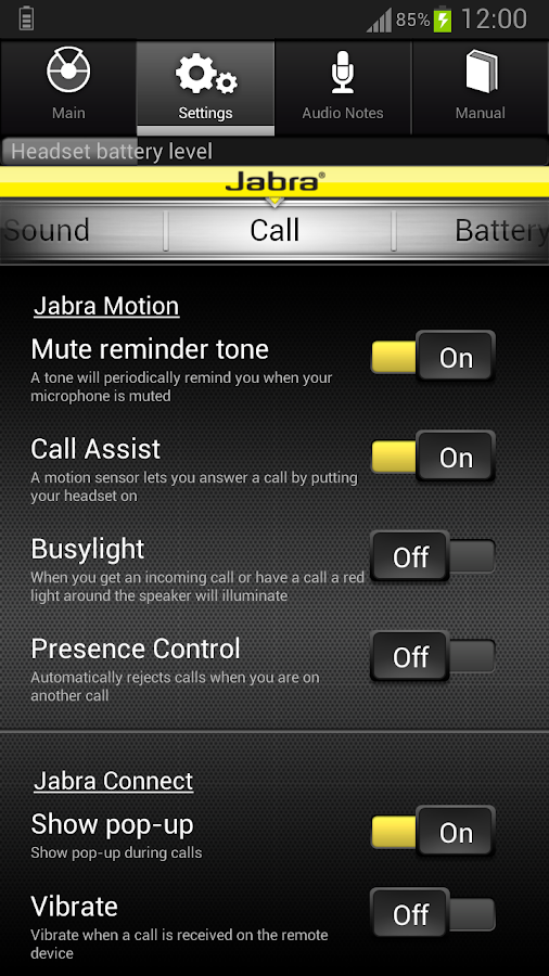 Jabra CONNECT - screenshot