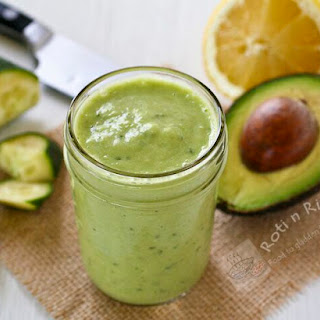 Avocado Cucumber Smoothie.