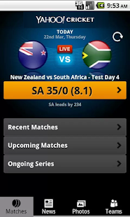 Yahoo Cricket - screenshot thumbnail