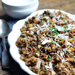 Colorful Lentil Salad with Walnuts & Herbs