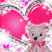 Heart Bear_Heart Cute kirakira