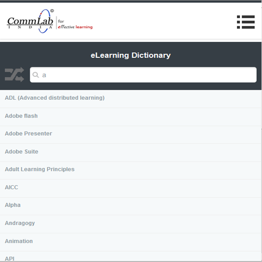 CommLab eLearning Dictionary