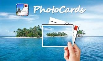 Screenshot of PhotoCards photo postcard