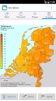 Screenshot of Het Weer Pro