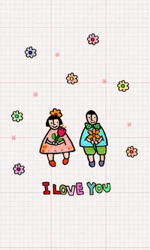 꽃과 동물을 사랑하는 소녀 카카오톡 테마